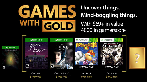 Xbox Live Gold free games for October 2017