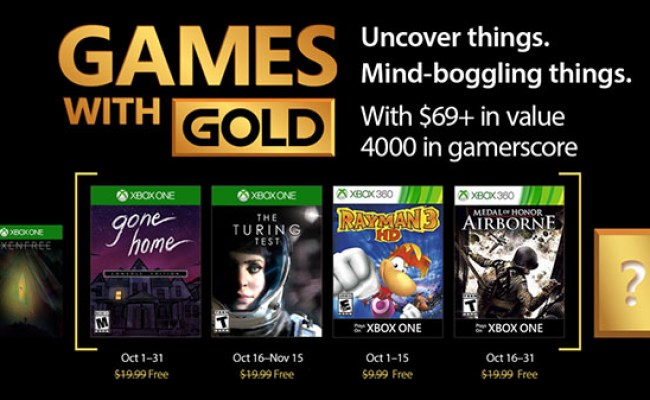 Xbox Live Gold Free Games For October 2017 Announced Gematsu