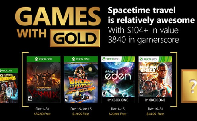 Xbox Live Gold Free Games For December 2017 Announced