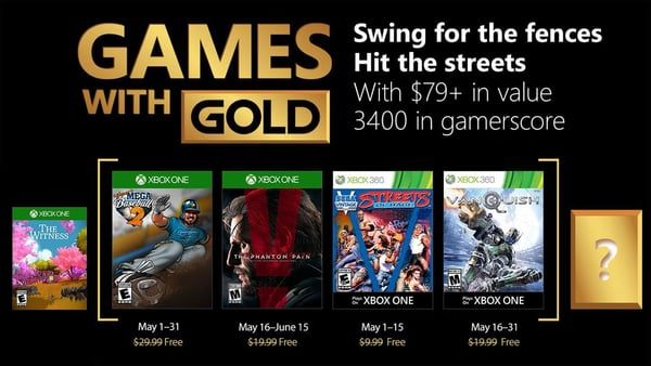 Xbox Live Gold free games for May 2018