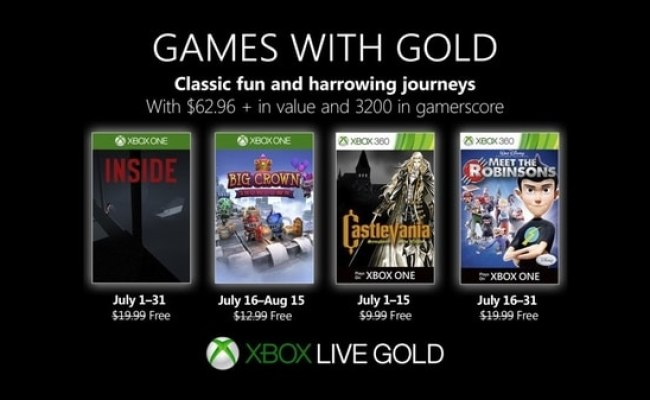 Xbox Live Gold Free Games For July 2019 Announced Gematsu
