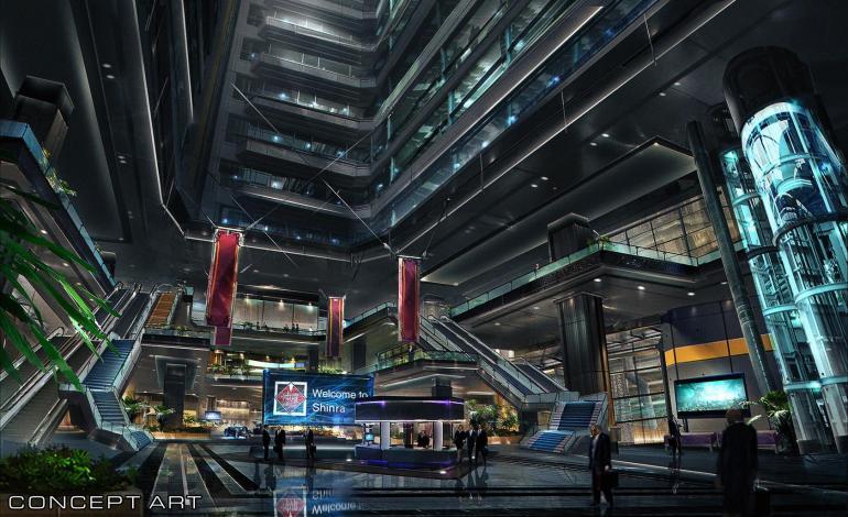 Final Fantasy Vii Remake Shinra Building Art Released Ff