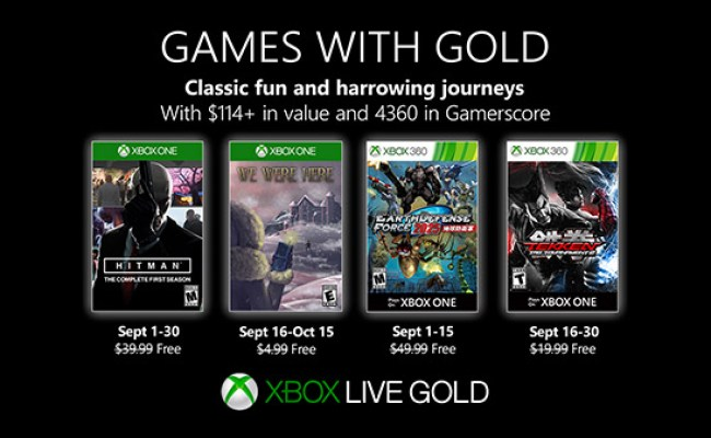 Xbox Live Gold Free Games For September 2019 Announced