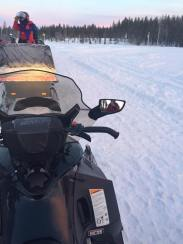 YES I AM A PROFESSIONAL SNOWMOBILE DRIVER (totally not i didn't even drive)