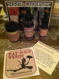 Lemon grass body butter, elderberry elixir, and goldenrod flower essence from Herbal Revolution!