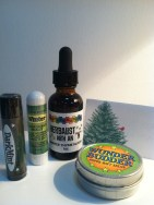 Wunder Budder's colorful gifts including an aromatherapy stick!