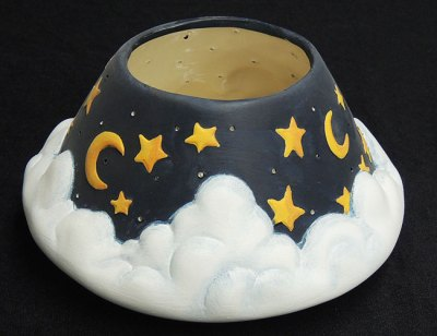 moonstarcandleholderGem Ceramic Mold Lancaster Denver  - Molds