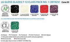 754lg - Class Pack (7-12): (LG) Low Fire Gloss No. 1