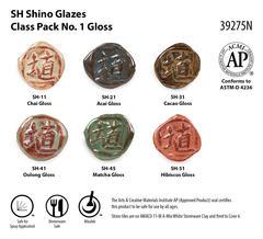 SH Shino Glazes Class Pack No. 1 Gloss SKU39275N WEB - Shino Class Pack #1