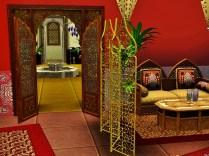 Teestube mit Blick zum Riad