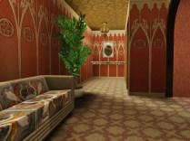 Zugang zu Toiletten, Dusche und Umkleiden im Erdgeschoss