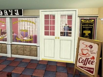 Eingang zum Café