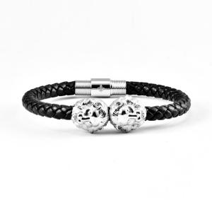 Silver Bracelet With Lion Head