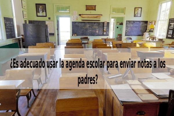 Nuevos usos de la agenda escolar: las notas de los profesores