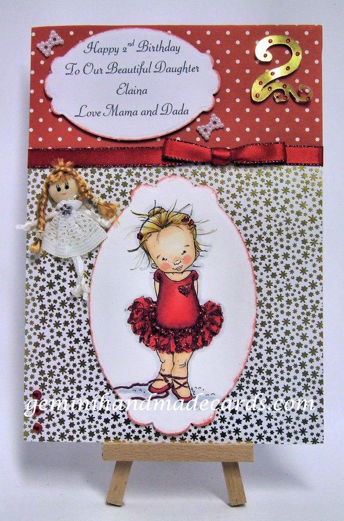 Girls Birthday Age 1 10 Geminihandmadecards Com
