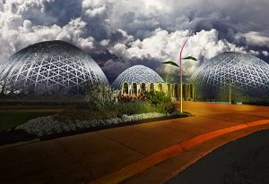 Image of Light Painting Mitchell Park Domes