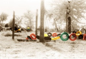 Image of Light Painting Old School Playground