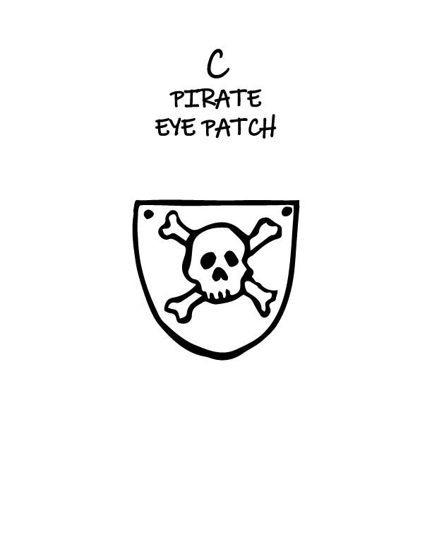 Pirate Hat And Eye Patch Printables