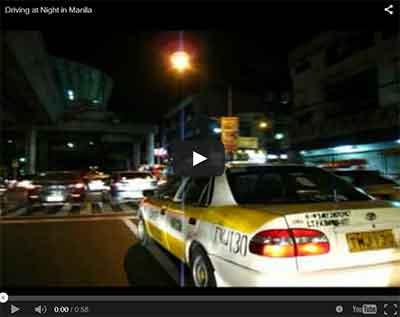 Driving at Night in Manila