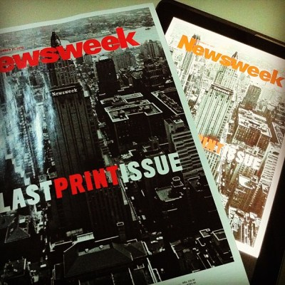 Bought Newsweek's last print issue earlier.