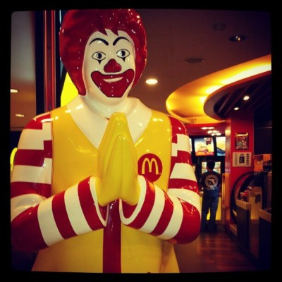 Thai Ronald McDonald says hello.