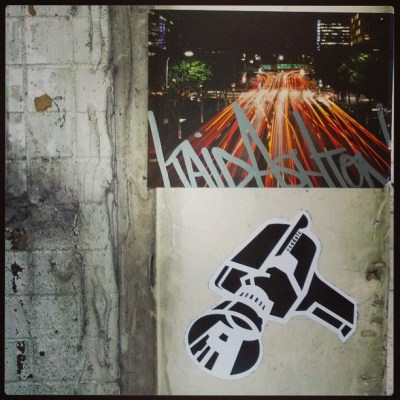Hong Kong sticker graffiti four pack