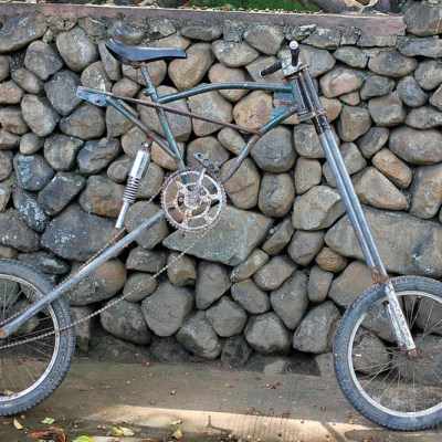 customized elevated BMX bike