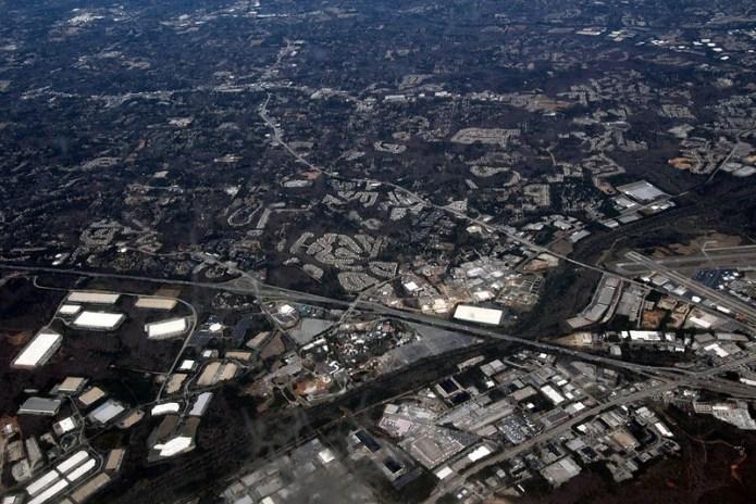 Atlanta, GA. seen from the sky
