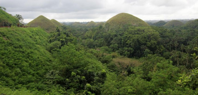 from the viewing deck in Carmen, Bohol