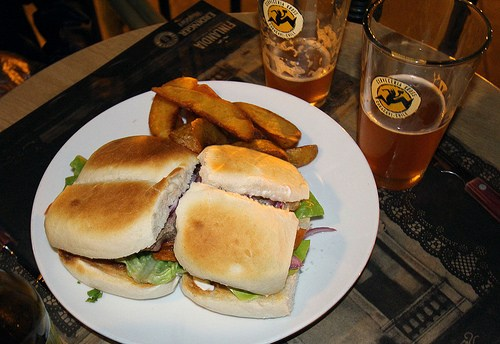 sandwich and wedges