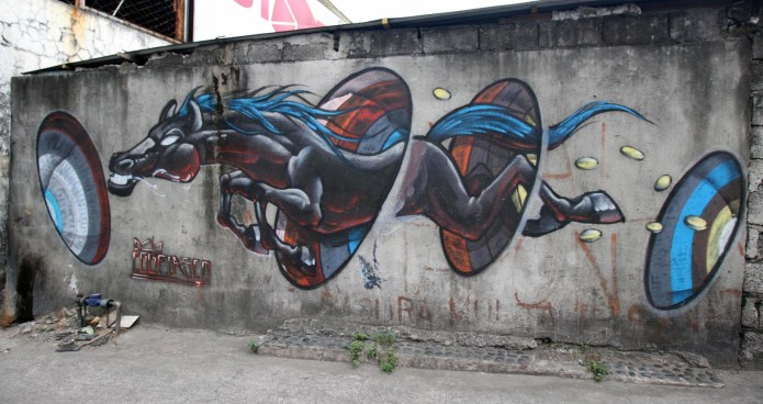 flying horse graffiti, San Juan, Philippines March 2016
