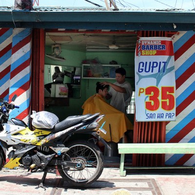 three barber shops