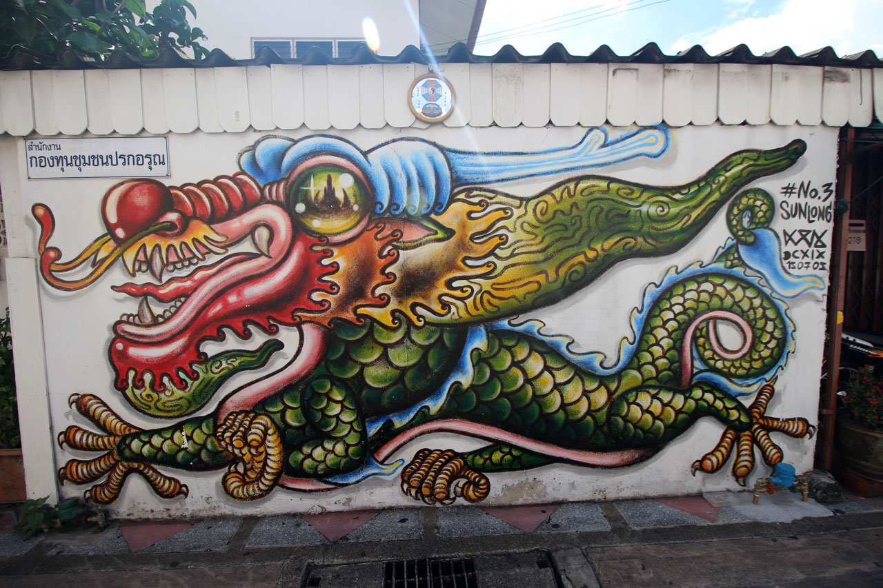 20- Day 8- graffiti outside Wat Arun temple- 2