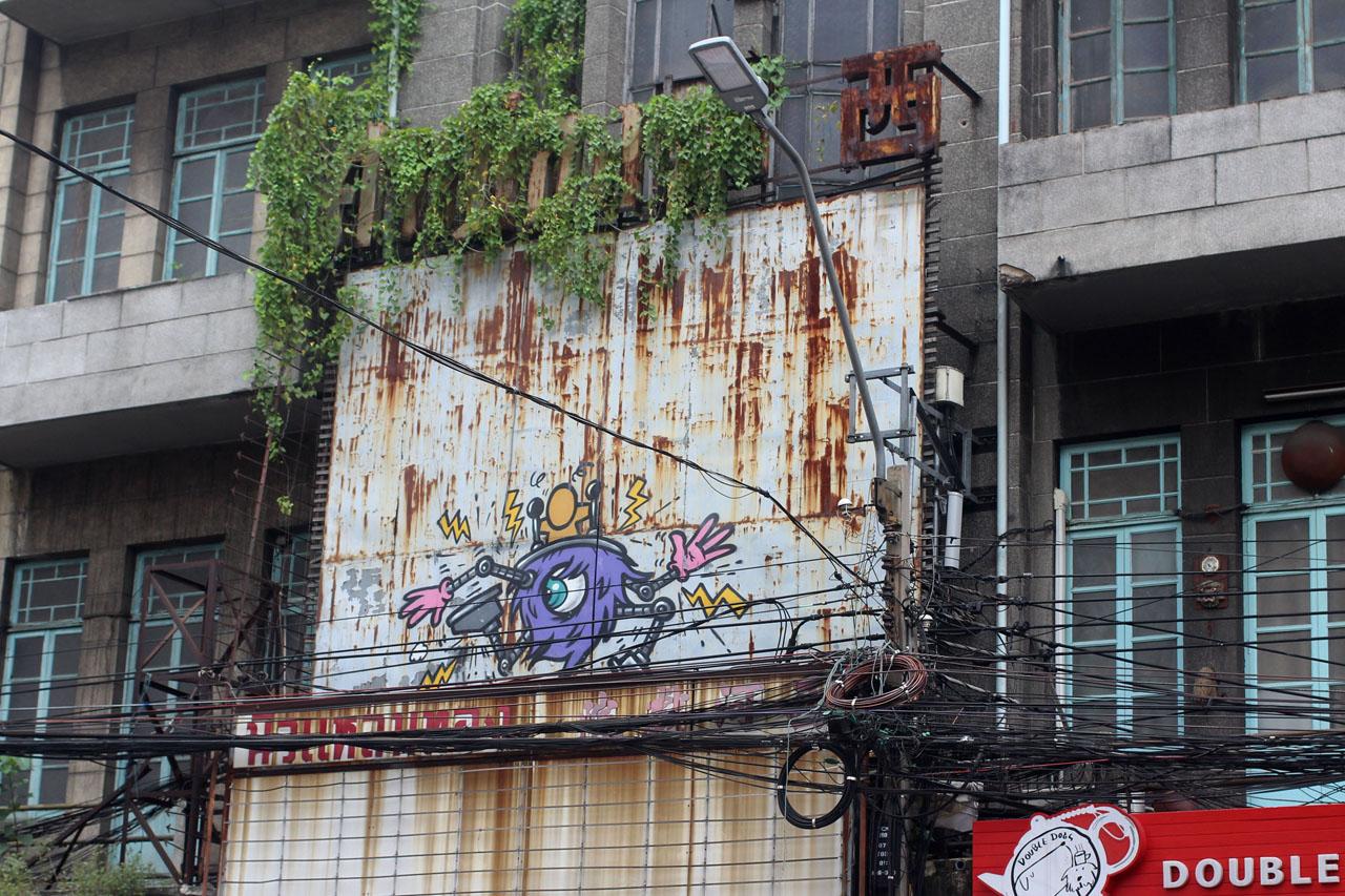 graf Bangkok Chinatown graffiti