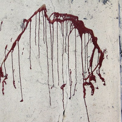 blood wall paint