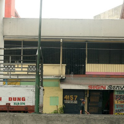 chicken dung truck and sign store