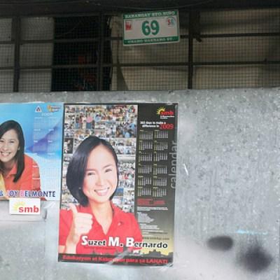 politicians' calendars on a wall