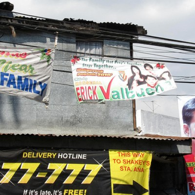 politicians' banners