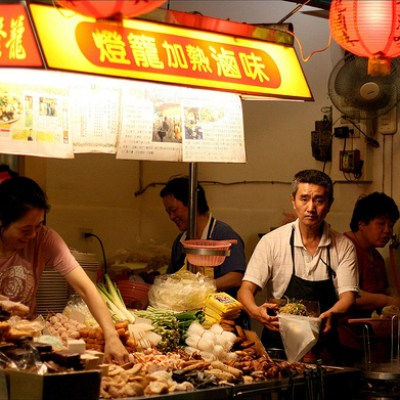 night market food stand