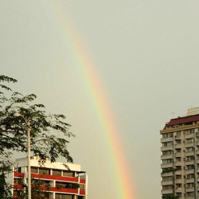 rainbow over Roxas Boulevard