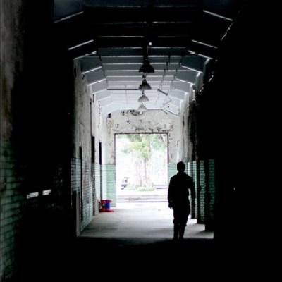 corridor at an abandoned factory