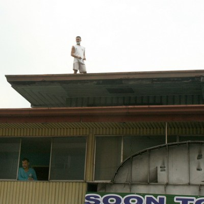 man on rooftop