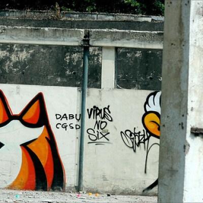 orange taichung graffiti