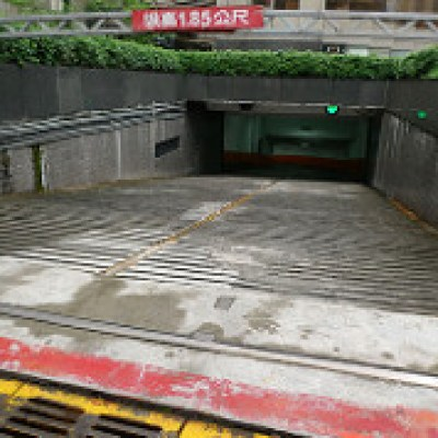two parking garages in Taiwan
