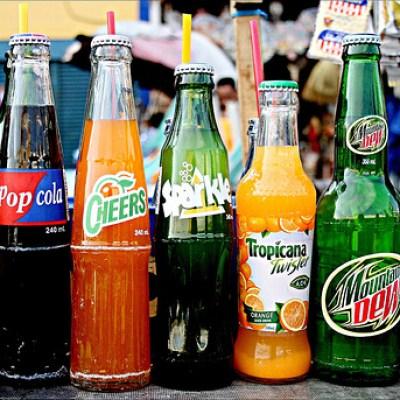 soft drink bottles