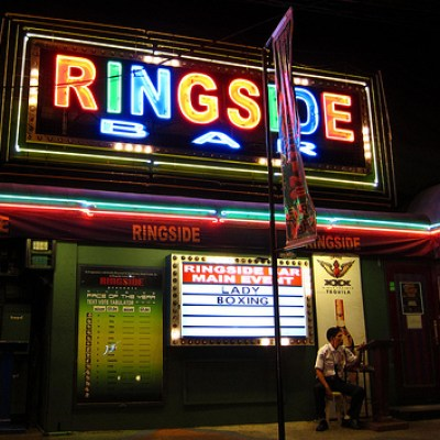 ringside bar lady boxing
