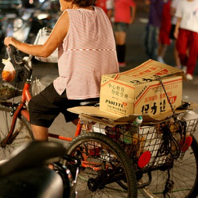 transporting stuff on a pedicab
