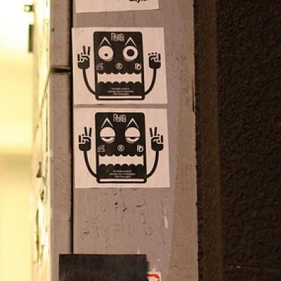 Kaohsiung City sticker graffiti