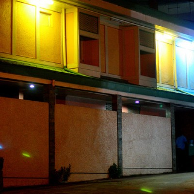 motel at night