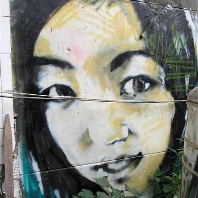 girl on graffiti